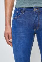 Superbalist - Seattle skinny knee slice jeans - blue