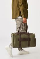 Typo - Nuevo overnighter bag cvs - khaki and bitter choc