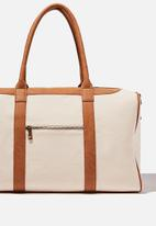 Typo - Nuevo overnighter bag cvs - natural and mid tan