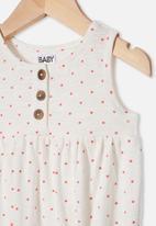 Cotton On - Craigelina singlet bubbysuit - vanilla & red orange