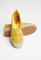 Plum - Kadenza espadrille - yellow