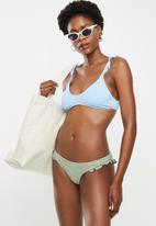 Cotton On - Refined high side brazilian bikini bottom - khaki broiderie