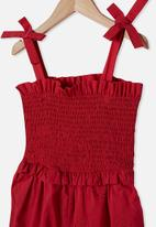Cotton On - Imogen shirred jumpsuit - red