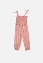 Cotton On - Imogen shirred jumpsuit - pink