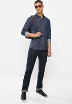 Ben Sherman - Navy dot long sleeve shirt - navy