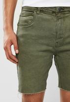 Factorie - Slim cut denim short - khaki
