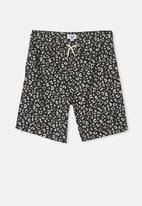 Free by Cotton On - Boys volly short - leopard print & phantom