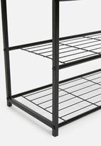 H&S -  Layered shoe rack - black & natural