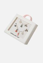 Cotton On - Charm bracelet & necklace set - silver