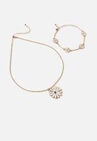 Cotton On - Charm bracelet & necklace set - daisy