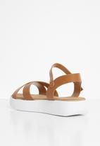 Jada - Flatform sandal / tan