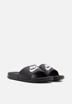 "Nike - Nike benassi ""just do it."" - 343881-015 - white & black"