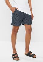 Rip Curl - Denim stripe volley - blue & white