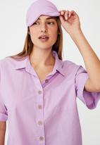 Cotton On - Washed woven sleep set - washed sheer lilac