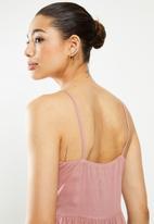 edit - Button through dress - pink