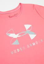 Under Armour - Tech graphic big logo short sleeve T-shirt - pink