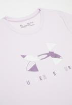 Under Armour - Tech graphic big logo short sleeve T-shirt - lilac