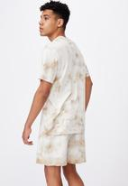 Factorie - Regular tie dye T-shirt - sand tie dye