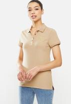 POLO - Clc candice short sleeve crest stretch golfer -stone