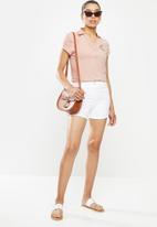 POLO - Clc chelsea short sleeve crest stretch golfer -blush
