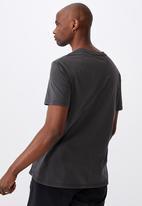 Factorie - Regular washed T-shirt - washed black