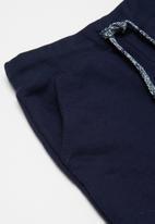 POP CANDY - Tee & Fleece Shorts Set - grey melange/navy