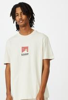 Factorie - Extra mild regular graphic t shirt - ivory