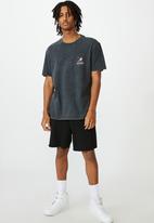 Factorie - Regular graphic t shirt - washed black