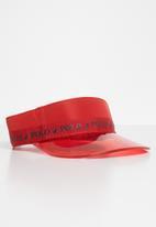 POLO - Byron transparent peak visor - red