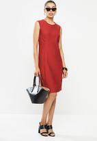 POLO - Excl sleeveless dress inseam pocket -red
