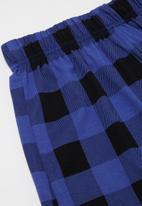 Rebel Republic - Boys printed tee & shorts pj set - blue