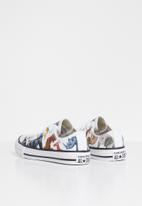 Converse - Ctas animal print science class ox b - white & natural ivory