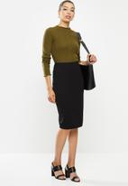 POLO - Caty stretch skirt -black