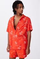 Factorie - Resort shirt - red hawaii