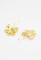 Superbalist - Flower statement earrings - gold