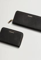 MANGO - Wallet mch brais  - black
