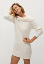 MANGO - Dress faldo - neutral
