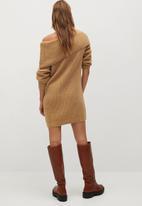 MANGO - Dress faldo - brown