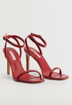 MANGO - Lali heel - red