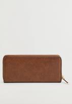 MANGO - Wallet g brais - brown