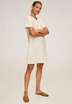 MANGO - Dress candel - neutral
