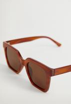 MANGO - Sunglasses blanca - red orange
