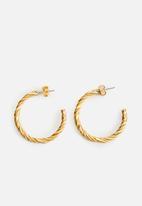 MANGO - Earrings rosa - gold