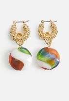 MANGO - Earrings jessica - gold