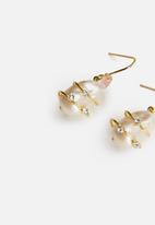 MANGO - Earrings poppy - gold