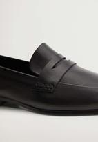 MANGO - Ramo leather loafer - black