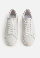 MANGO - Haifa leather mix sneaker - white