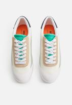 MANGO - Herring leather mix sneaker - white