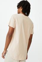 Factorie - Curved T-shirt - dirty pink