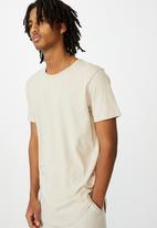 Factorie - Curved T-shirt - beige
